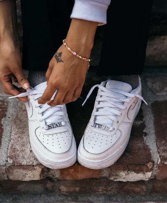 LAFOI x IAM. Stay True Silver Shoe Charms