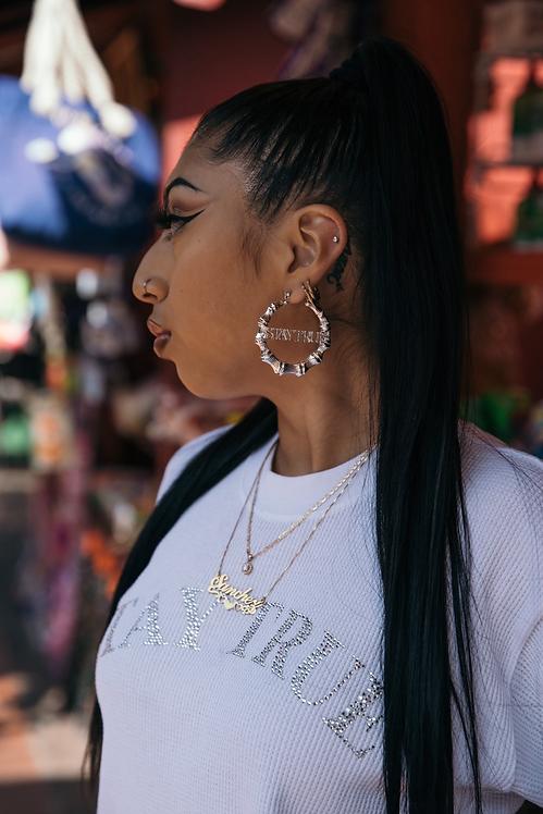 LAFOI x IAM. Stay True Silver Earrings