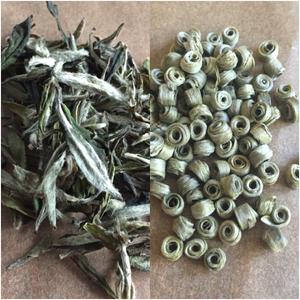 Bai Mu Dan (left); Jade Earrings (right)
