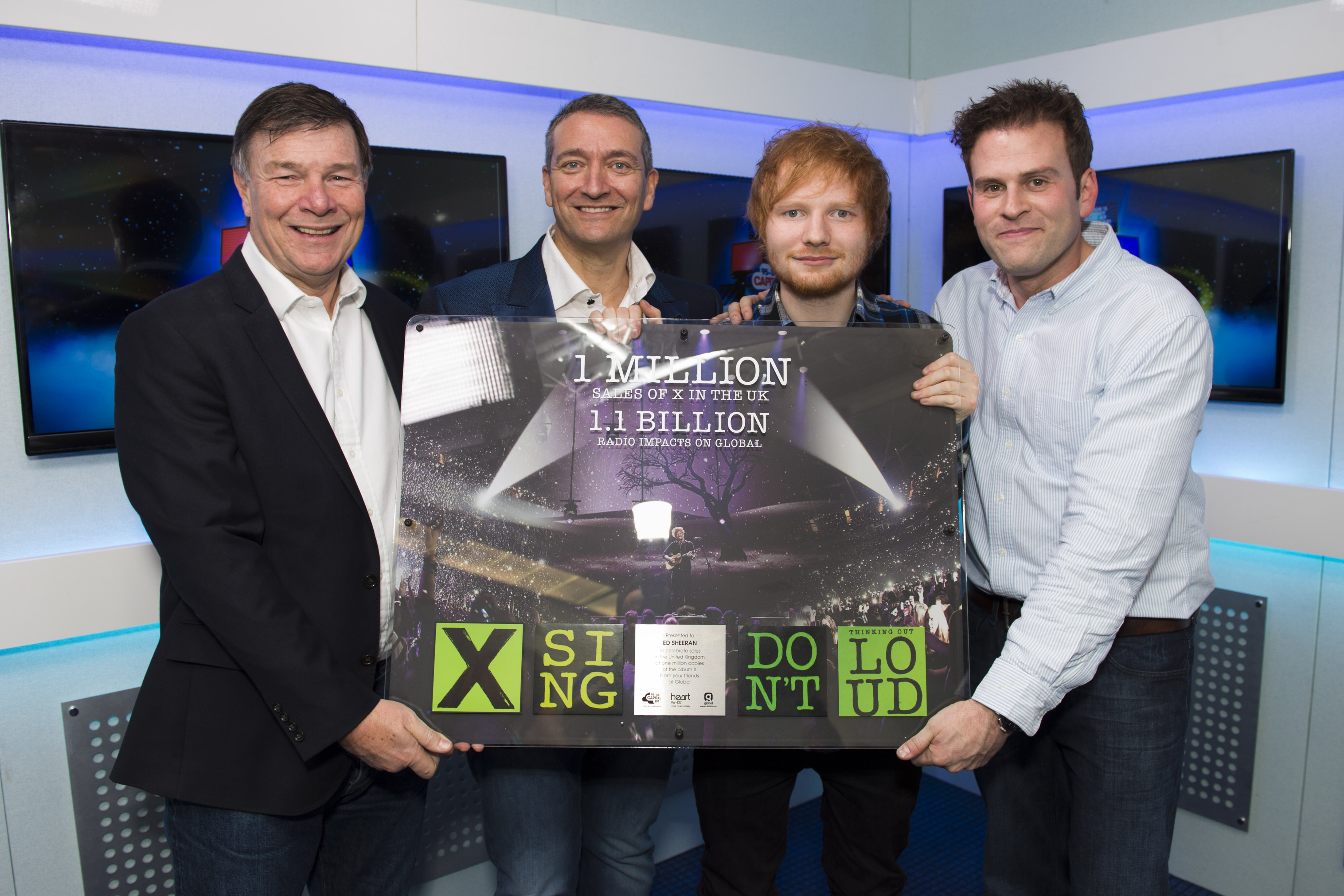 Ed Sheeran with Award