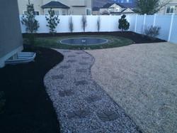 mulch/gravel path/playground chips