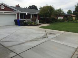 custom concrete, driveway, walk way
