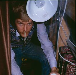 Bill soldering the studio