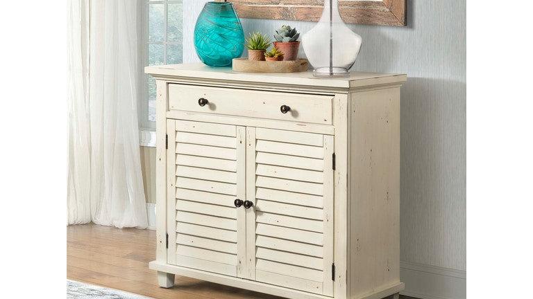 Moreland Antique White Accent Cabinet