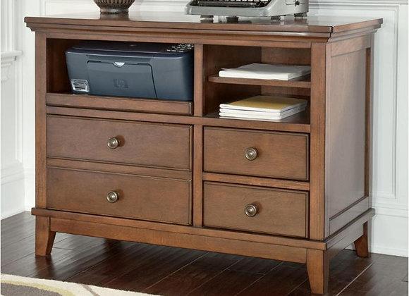 Burkesville Medium Brown Office Cabinet