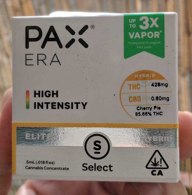 Select ELITE - PAX Era High Intensity - Cherry Pie Extract Pod