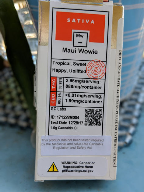 Select ELITE - 510 - Maui Wowie Extract Cartridge