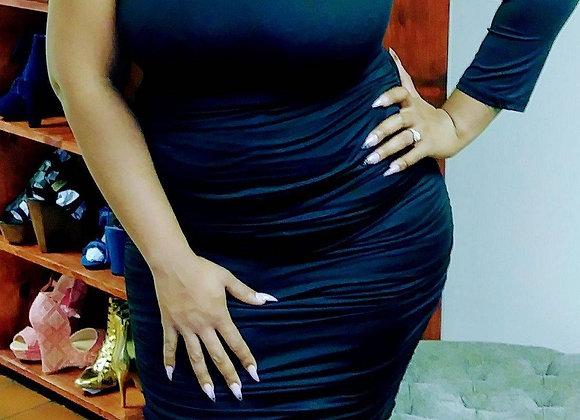 Razor sleeve dress