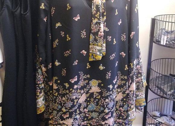 Spring Sheer Wide Sleeve Dress