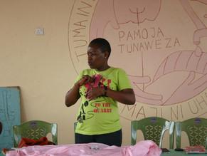 Women's Group Learn to Sew Reusable Sanitary Napkins