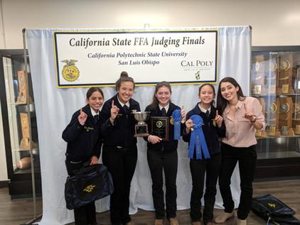 Righetti FFA Poultry Team Wins State FFA Championship