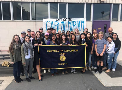 State FFA Officer Chapter Visit