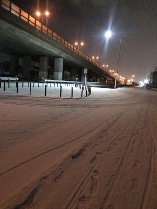 3日間、雪の中、徒歩で皆勤賞