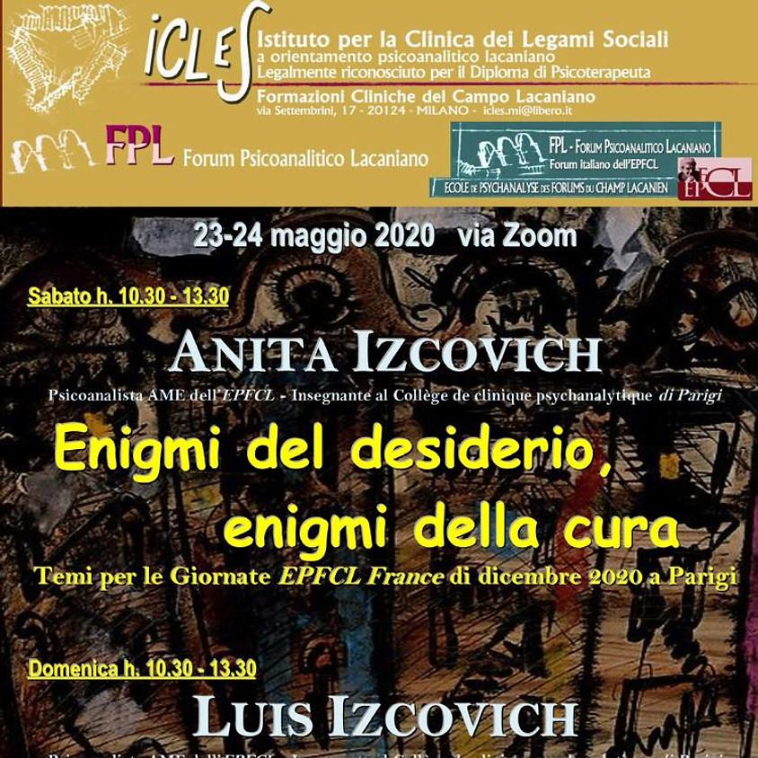 Seminario Online: Enigmi del desiderio, enigmi della cura - Anita Izcovich