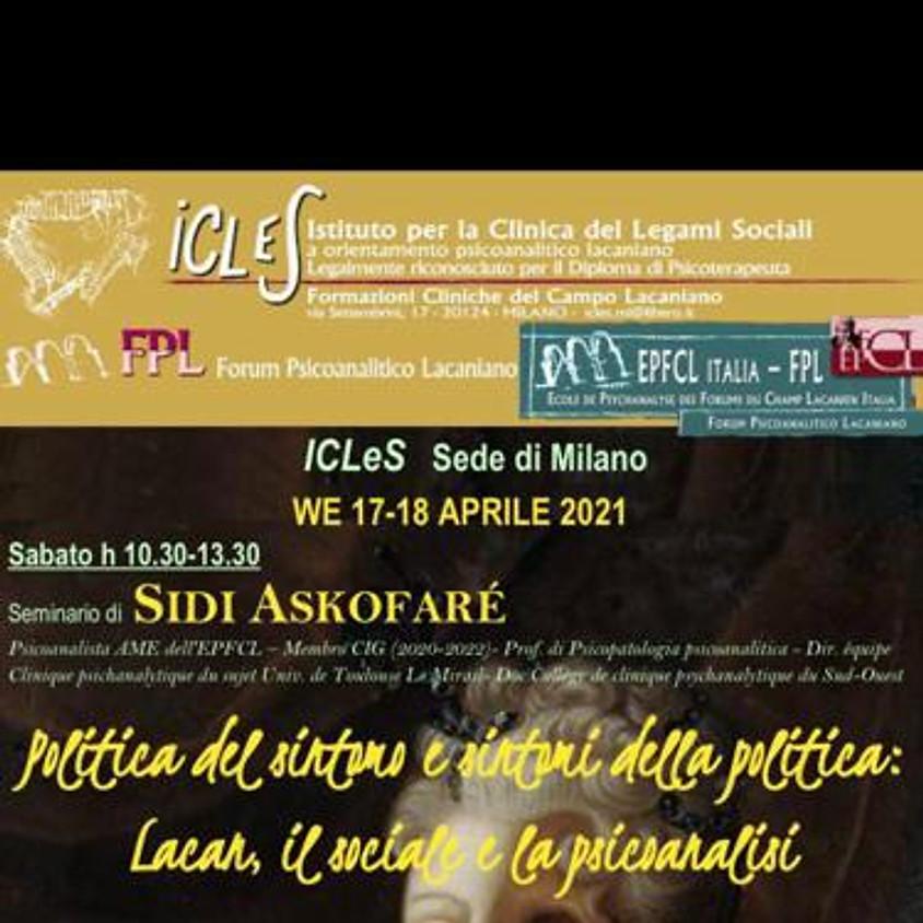 17-18 aprile: Seminario di Sidi Askofaré; caso clinico