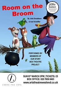 Room on the broom Arts Theatre poster.pu