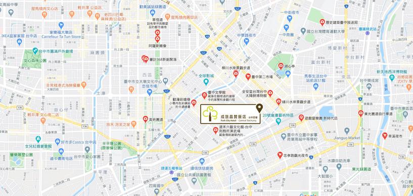 成旅晶贊飯店-民權館地圖