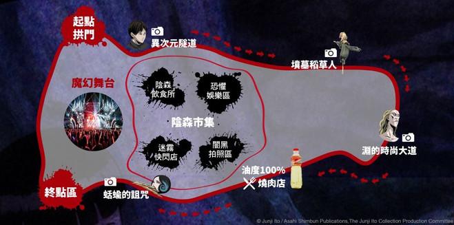伊藤潤二嚇夜祭地圖