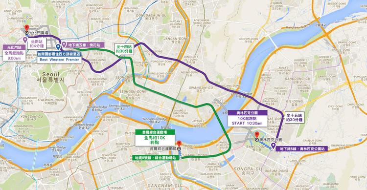 Seoul Marathon Map