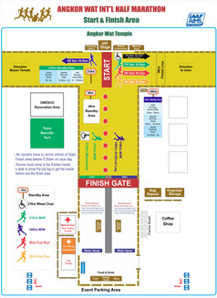吳哥窟國際半程馬拉松會場圖
