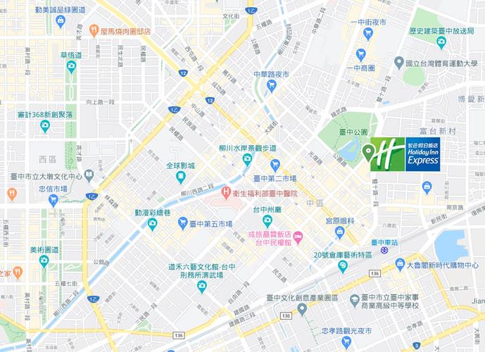 臺中公園智選假日地圖