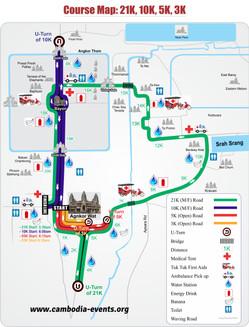 吳哥窟國際半程馬拉松路線圖
