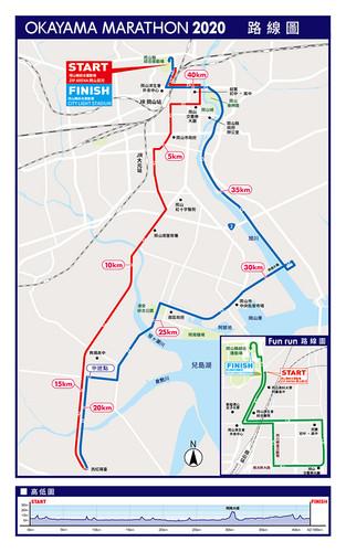 岡山馬拉松路線圖
