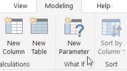 New Parameter button