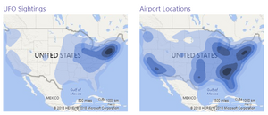 Sightings and Airport Locations