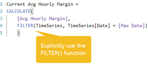 Use FILTER() with CALCULATE()