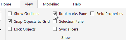 Open Bookmarks Pane