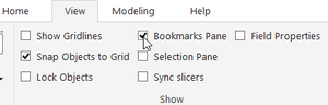 Open Bookmarks Pane