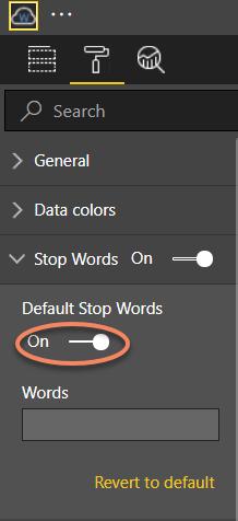 Default Stop Words