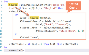 Nested Query Reference