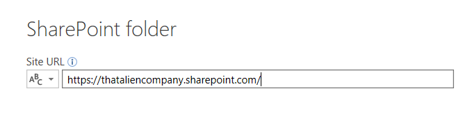 SharePoint URL