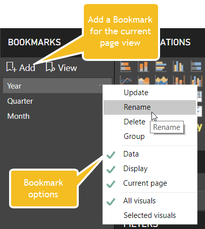 Add Bookmarks