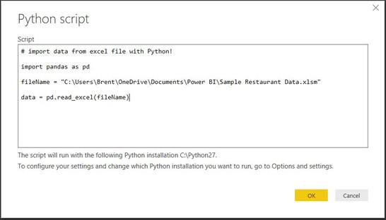Power BI: Using Python to Get Your Data