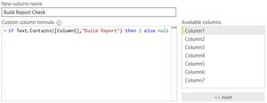 Build Report Check Formula