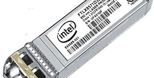 DeIl 407-BCBH Intel E10GSFPSR 10GBASE-SR SFP+ Transceiver Module, MMF 850nm