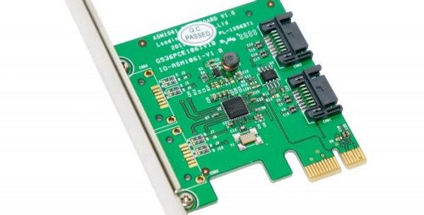 IOCREST 2 Port SATA 3.0 (6Gbps) PCI-E X1 Controller Kart  SY-PEX40039