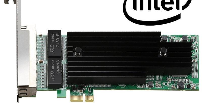 Open Smart OPS01G64NT Quad / 4 Port Intel 82576EB Gigabit PCI-E X1 Ethernet Kart