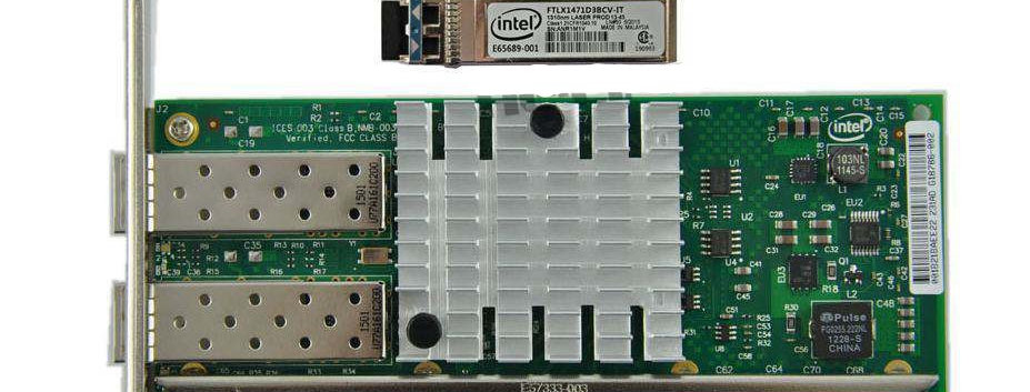 Intel X520-LR2  Dual / 2 Port 10GbE PCI-X8 SFP+ Ethernet Kart - E10G42BFLR