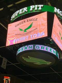 Green Eagle Supports the Mean Green