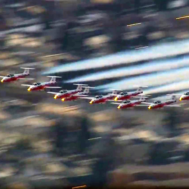 Snowbirds from the Air