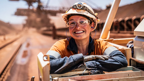 Nicole cut her pay in half to go and work in a dusty mine. And she loves it.
