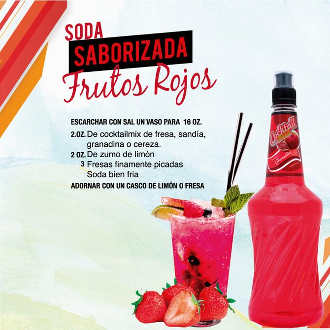 Soda Saborizada Frutos Rojos