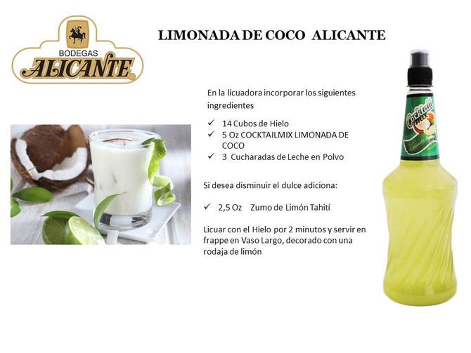 LIMONADA DE COCO ALICANTE