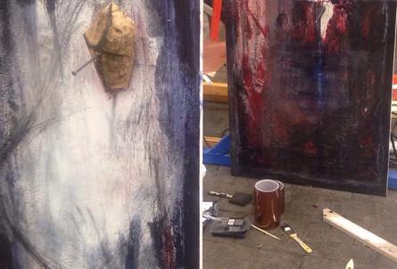 Making of paintings for Organistrum