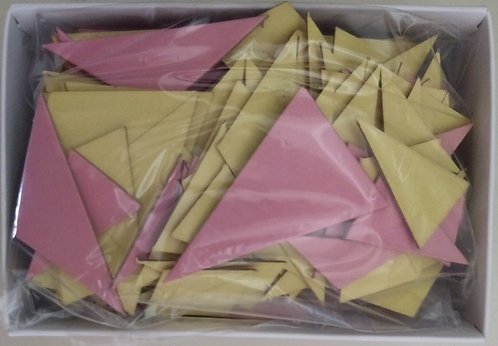 ARTriangles red and yellow tile kits  190 pcs.