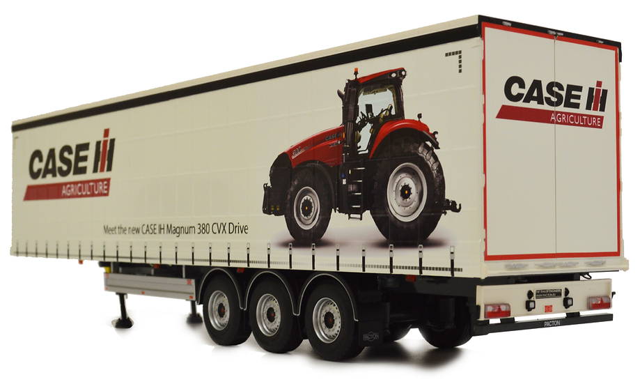 Pacton curtainsider trailer Case IH design